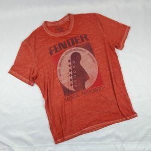 Lucky Brand X Fender Graphic Tee T Shirt